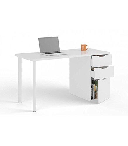 Aucune M255825 - Mesa ordenador reversible athena blanco