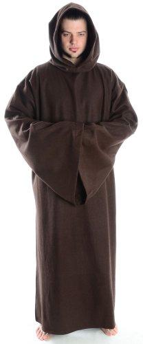 Schafwollkutte Schafwollfilz Mönchskutte Mittelalterliche Kutte (L, (Kostüme Assassinen Mittelalterliche)