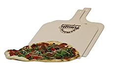 Pimotti Pizzaschaufel/Brotschaufel/Flammkuchenbrett aus naturbelassenem Sperrholz für Pizzastein (2er Set)