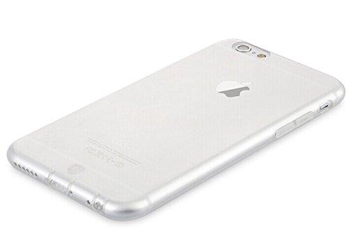 MYLB apple iphone 6 4.7 copertura TPU custodia case cover morbida protettiva del respingente del telefono di alta qualità (0,7 mm di spessore) (trasparente Nero) trasparente chiaro