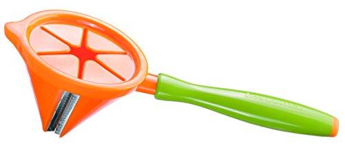 Tescoma Presto Carving Julienneschneider/Spiralschneider, aus Edelstahl, Grün/Orange