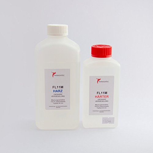 Epoxi-System FL11M Deckschichtenharzsystem 750 g Gebinde Epoxid transparentes Resin Epoxidharz EP-Harz GFK CFK (Versiegelung, Feinschichtharzsystem) -