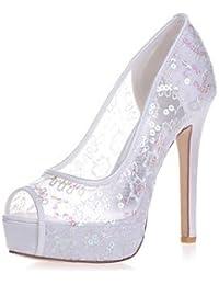 Il miglior regalo per donna e madre Per donna Scarpe Di pizzo Primavera  Estate Decolleté scarpe da sposa A stiletto Punta aperta per… e2d1e0861d7