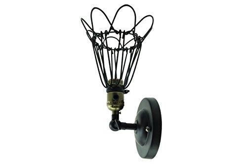 APPLIQUE FIORE LAMPADA LANTERNA LAMPIONE LAMPIONCINO PARETE TERRAZZA B26