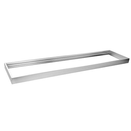 OUBO led panel 120x30 Aufbaurahmen Aufputz-Rahmen Deckenmontage Wandmontage Deckeneinbau Deckenbefestigung Set Silber