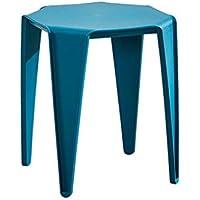 SUN HUIJIE Taburete de plástico Silla de casa Espesar Taburete Redondo Banco pequeño Taburete Alto Taburete de Mesa (Color : Azul)