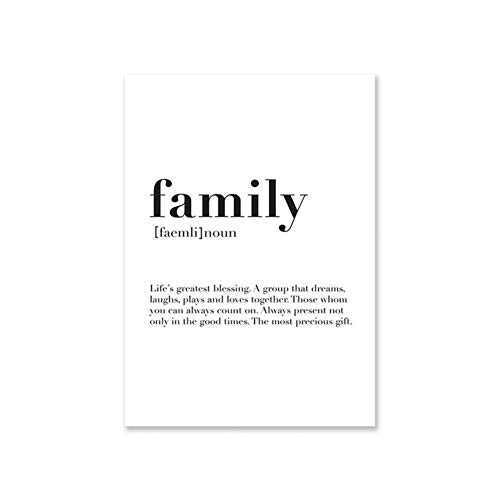 CFGCH Family Wall Art Love Posters and Prints Set of 3 Print Minimalist Canvas Painting for Living Room Home Decor,30X40Cm No Frame,02