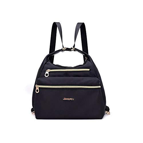 GenialbauTM Tasche mit doppelten Reißverschlüsse, Rucksack, Handtasche und Umhängetasche