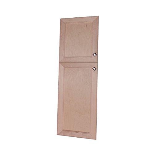 Eine Tür Curio (Wood Cabinets Direct Maxwell an der Wand, 2 Türen, Rahmenlos, 24/28, 8,9 cm)