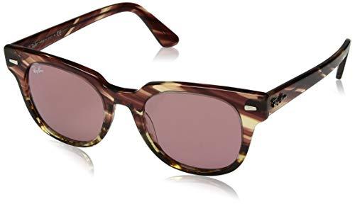 Ray-Ban Unisex-Erwachsene 0RB2168 Sonnenbrille, Pink Gradient Beige Stripped, 49