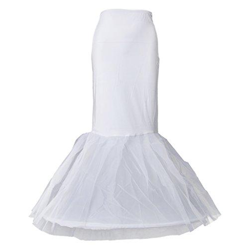 Sharplace Petticoat 1 Hoop Brautkleid Unterrock petticoat Brautkleid Reifrock Meerjungfrau Muster