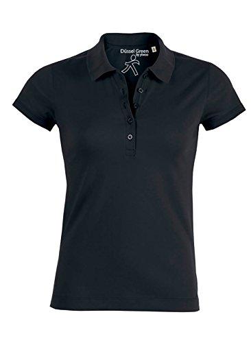Damen Poloshirt aus 95% Biobaumwolle und 5% Elastan, Poloshirt Damen Baumwolle (Bio), Damen Polo-Piqué Bio, Polo Shirts Bio, Damen Polohemd Bio (M, Schwarz) - Pullover Damen Polo Schwarz