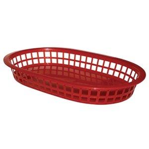 ovale Panier de nourriture Polypropylène Rouge Dimensions : 40 (H) x 275 (L) x 175 (P) mm. Rouge.