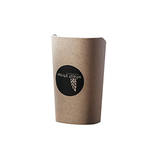 Licxcx Zahnbürste Tasse Weizen Kreative Waschen Tasse Haushalt Paar Bürsten Rahmen Mund Tasse Crock Set Beige Zahnputzbecher - Beige Crock