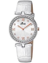 2c3a85ef4af7 Lotus Watches Reloj Análogo clásico para Mujer de Cuarzo con Correa en  Cuero ...