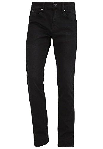 BOSS Green DELAWARE Herren Slim-Fit Jeans aus Stretch Jeanshose Hose W36 L34 schwarz