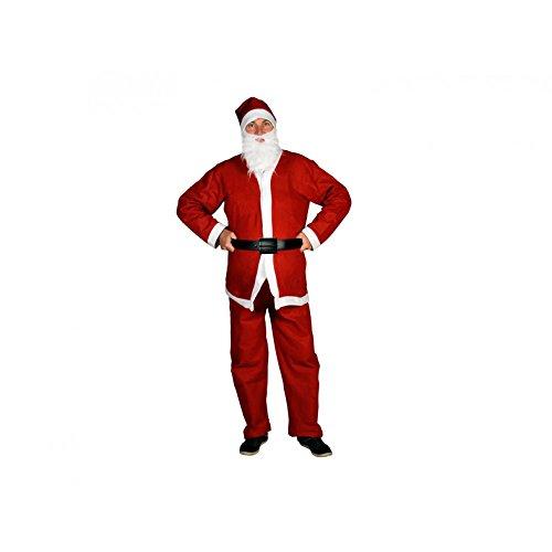 Weihnachtsmann Anzug Kostüm 5-tlg. Einheitsgröße (Weihnachtsmann Anzüge)