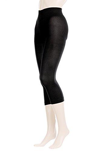 GLAMORY Leggin Damen Leggings Velvet 80 DEN, Schwarz (Schwarz), X-Large (Herstellergröße: XL-(48-50))