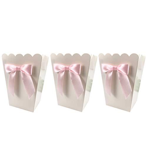 TOYANDONA Snack Printing Treat Box Dekoration Container Geburtstag Baby Duschen Supplies Dekoration (Pink Bow) 12pcs
