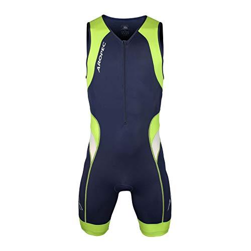 Aropec Triathlon Einteiler Lion Herren - Trisuit Men, Größe:L, Farbe:navy/grün