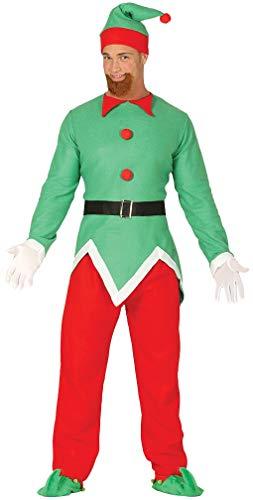 Mens North Pole Elf Christmas Worker Xmas Festive Noel Nativity Fancy Dress Costume Outfit M-L (Medium) (North Pole Elf Kostüm)
