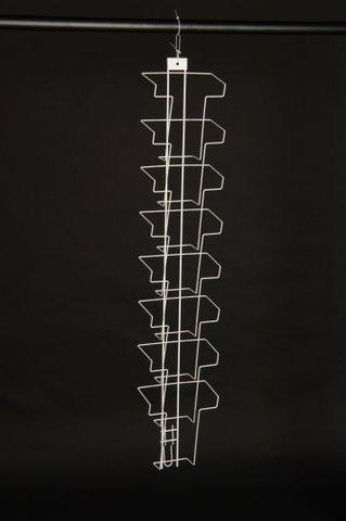 Prospekthalter A4 mit 8 Fächern für Wandmontage