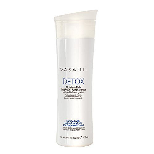 Detox - Nutrient Rich Purifying Facial Cleanser with Gentle Foaming Action - Paraben Free, Sulfate Free