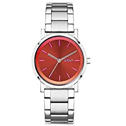 DKNY End of Season Analog Red Dial Womens Watch - NY2267