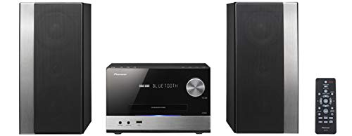 Pioneer X-PM32 - Microcadena (75 W, estéreo, Streaming App, Bluetooth, USB), color negro/plateado