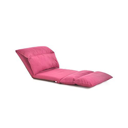 Möbelsets-LX Klappstuhl, Klapp-Lounge-Sofa-Balkon, Kissen aus Baumwolle und Leinen, herausnehmbar und waschbar um 180 ° verstellbar