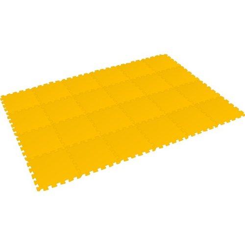 Preisvergleich Produktbild Bodenmatte Puzzlematte UNO (24 Teile), gelb - 16 mm - 0+