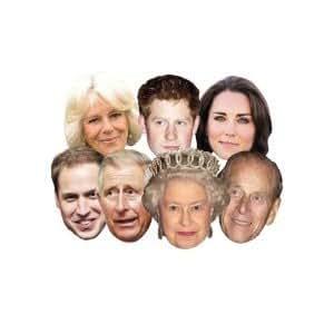 Royal Family Masks (full set of 7)