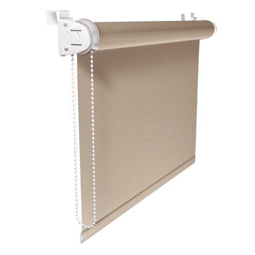 Victoria m tenda a rullo permeabile alla luce klemmfix - semitrasparente - montabile senza fori / dimensioni: 120 x 150 cm / colore: beige
