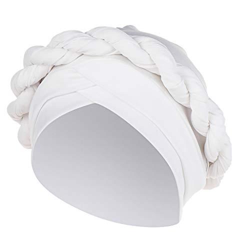 Laile Damen Indien-Hut Mode Schicke Mütze Haube Unifarbe Einfaches Mützen Elegantes Bequeme Kopfbedeckung Elastic Schal Mützen Frauen Indien Turban Fur Haarverlust Kopftuch Wrap