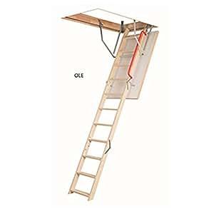 optistep echelle pliable en bois escalier pour loft grenier taille de cadre l 60 cm x l 120. Black Bedroom Furniture Sets. Home Design Ideas