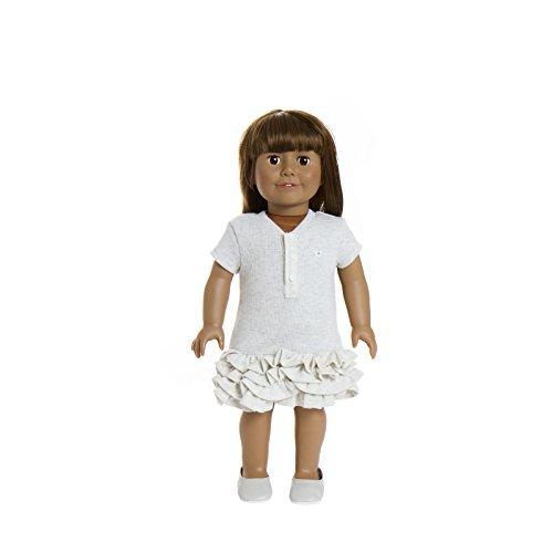 Puppe 22,9-45,7cm Puppe von Treasured Puppen, mit Medium Skin und Lange Licht Braun Haar mit Einem Pony und schöne Braune Augen (American Puppe Haare Girl Braune)