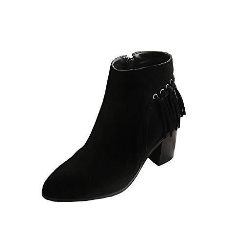 42d1014414902d Xiaolin Ankle Booties Damenstiefelette Fransen High Top Booties High Heel  Western Cowboystiefel.