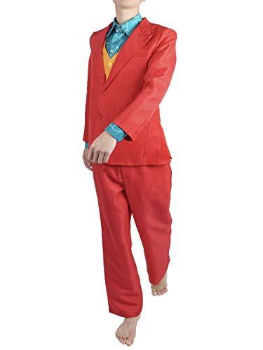 CoolChange Joker Kostüm von Arthur Fleck, Comic Verkleidung, Anzug, Weste, Hemd, Größe: L