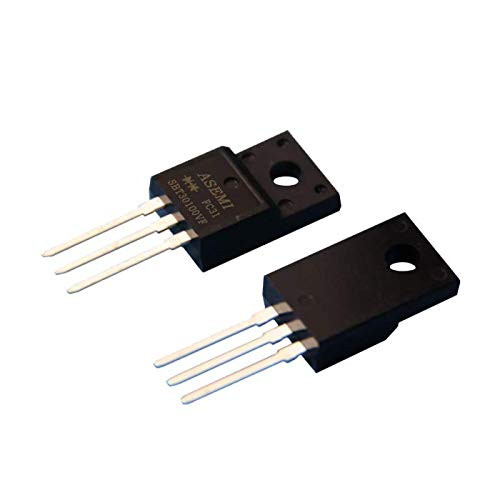 (Pack of 10pcs) SBT30100FCT ASEMI Low VF Schottky Barrier Diode 30amp 100v ITO-220AB Package 3 Pins for LCD Television Vf-lcd