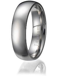 Kohlefaser-Titan Herren Ring 8mm