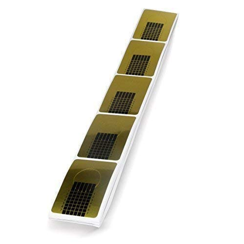 Modellierschablonen Papierschablonen Nagelschablonen Nail Forms GOLD 100 St