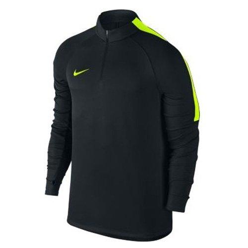 Nike M nK sQD coutil Top Shirt à manches longues, homme negro - (black/volt/volt)