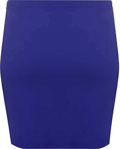 WearAll - Mini-jupe élastique - Jupes - Femmes - Tailles 36 à 42 Bleu