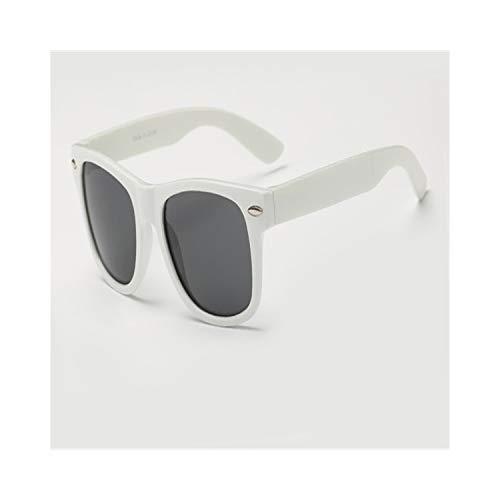 Vikimen Sportbrillen, Angeln Golfbrille,Top Quality Kids Sunglasses Boy/Girls Cool Casual Glasses Outdoor Child Goggles Eyewear UV400 Protection Rivet Gafas Longkeeper White Gray