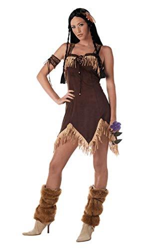 Sexy Indianer Prinzessin Pocahontas Kostüm Karneval Fasching Verkleidung Damen
