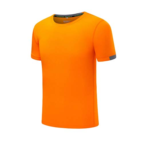 Eaylis Herren T-Shirt LäSsiges, Einfarbiges, Atmungsaktives T-Shirt Mit Rundhalsausschnitt, KurzäRmeliges Sport-Fitness-Shirt, Schnell Trocknende Kleidung