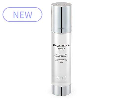 AHC Hyaluronic Toner 100ml (3.3 oz) Hyaluronic Acid and Herb Ingredients Providing Moisture and Nourishment to the Skin by AHC Toner / Mist