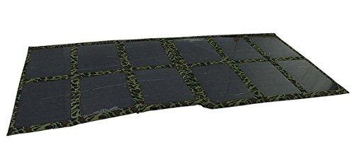 GGX Energy 120W Solar Akku 12V Ladegerät für Auto 4x 44WD RV Caravan Camper Hochwertige Faltbare Solarmodul MONO Solar Zelle (schwarz)