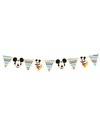 Procos guirnalda de decoración de papel 2MT Mickey Mouse Awesome, Multicolor, 5pr89007