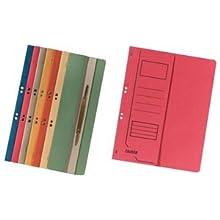 FALKEN Eyelet Bottom-Up Flat Files, A4, Half Cover, 250g - Blue, Pack 50